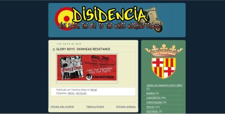 captura del Blog nazi Disidencia.
