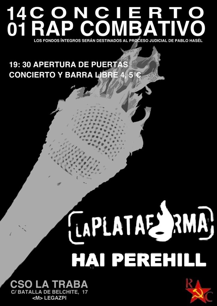 Concierto RAP Combativo [Beneficios para Pablo Hasel] `Madrid] Cartel