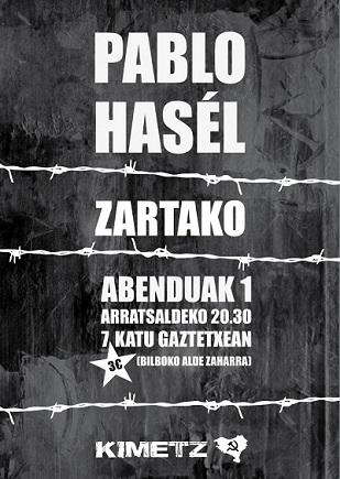 Concierto Kimetz - Pablo Hasel - Zartako - Bilbo 7Katu Kimetz